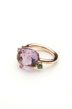 Pomellato Amethyst and Tsavorite Ring by Pomellato  from Amanda Pinson Jewelry