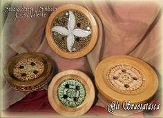 Svuotatasca mosaico su legno di faggio
