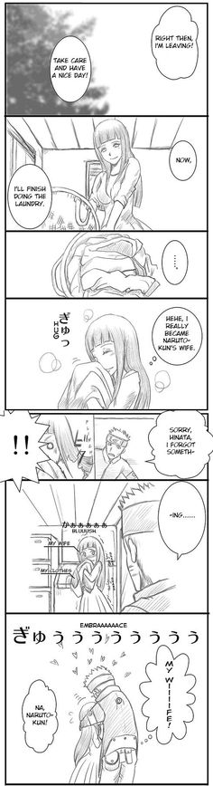 Hinata is happy to be Naruto's wife.