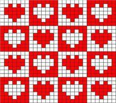 Afbeeldingsresultaat voor Hearts Filet Crochet