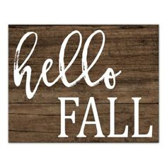 """Welcome the new season to your home or office walls with the """"Hello Fall"""" Canvas Wall Art from Designs Direct . Featuring the text """"Hello Fall"""" on a wood background, this charming piece conveniently arrives ready to hang. Fall Wood Signs, Fall Signs, Wooden Signs, Fall Chalkboard Art, Chalkboard Ideas, Chalkboard Signs, Fall Canvas, Autumn Painting, Canvas Wall Decor"""