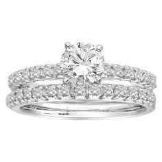 14k White Gold .50 ct Round Center Diamond Bridal Ring Set: disclosure affiliate link $1825