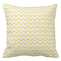SAVE 25% on all decorative throw pillows on our site. Use code: ZAZWEEKSALES at checkout. Yellow chevron zigzag stripes zig zag pattern pillows