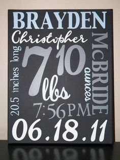 Newborn birth announcement on canvas by TancysTreasures on Etsy Birth Announcement Canvas, Newborn Birth Announcements, Etat Civil, Shower Bebe, Baby Shower, Baby Wall Art, Baby Birth, Everything Baby, Baby Fever