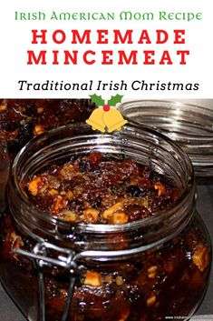 Mincemeat is a festive filling for baked goods, that is very popular for making mince pies in Ireland and the United Kingdom at Christmas. Canning Recipes, Candy Recipes, Holiday Recipes, Dessert Recipes, Christmas Recipes, Xmas Food, Christmas Cooking, Homemade Mincemeat Recipe, Homemade Mince Pies