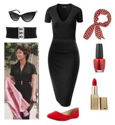 """""""Rizzo - Grease - Pink Ladies"""" by itsafabulouslife ❤ liked on Polyvore featuring OPI and L'Oréal Paris"""