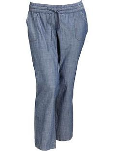 Old Navy Chambray Pull-On Pants - look cute and comfy!