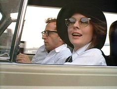 It's odd to see Woody Allen in a car. I wonder if he even knows how to drive, He doesn't look very comfortable with Diane Keaton as Annie Hall behind the wheel. Diane Keaton Woody Allen, Diane Keaton Annie Hall, The Real Slim Shady, Film Stills, Good Movies, Movie Tv, Actors, Celebrities, People