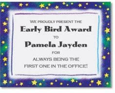 funny employee awards - Google Search