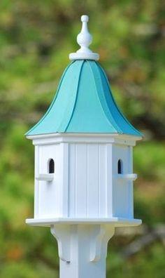 Copper Roof Birdhouse 28x12- 3 Perches