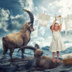 Photo Just a washday in the Swiss Alps by John Wilhelm on 500px