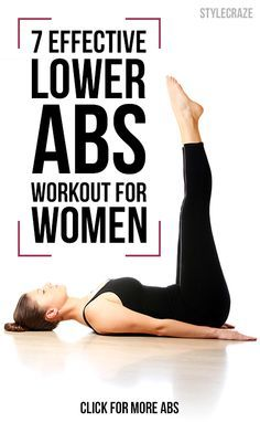 Seven effective lower abs exercises