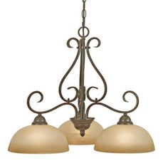Lowes �3-Light Collette Peppercorn Bronze Chandelier 374.32