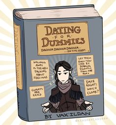 Vax'ildan's Dating Advice Critical Role Characters, Critical Role Fan Art, Critical Role Campaign 2, Vox Machina, Voice Actor, Inevitable, Fantasy Characters, Dungeons And Dragons