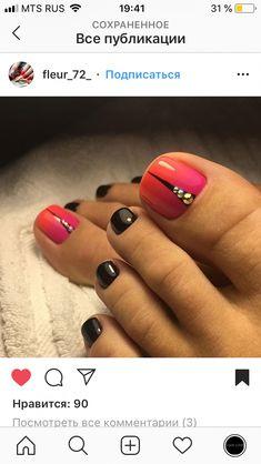 Spring Pedicure Colors Toenails 52 New Ideas Pedicure Colors, Pedicure Designs, Pedicure Nail Art, Toe Nail Designs, Art Designs, Pedicure Ideas Summer, Summer Pedicures, Pretty Toe Nails, Cute Toe Nails