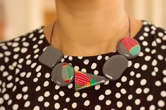 WildWood - Decoupaged Wooden Necklace – Naoi