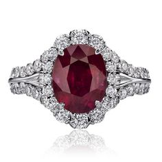 Christopher Designs ring with Ruby center surrounded by Crisscut Round diamonds. Fashion Rings, Fashion Jewelry, Christopher Designs, Ring Necklace, Statement Rings, Ring Designs, Round Diamonds, Heart Ring, Gems