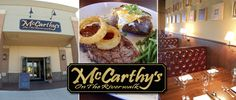McCarthy's on the Riverwalk, Elkhart - Lunch and dinner are served overlooking the Elkhart River at this downtown restaurant with a family friendly pub atmosphere. The inventive and affordable menu includes appetizers, a range of sandwiches and Irish classics such as corned beef and cabbage. In the dining room or on the large riverside patio - dine on steaks, fresh seafood or pasta. The bar features a wine list, specialty martinis and a variety of beers on tap.
