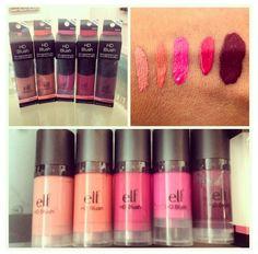 ELF Cosmetics HD blush best blush ever! Elf Makeup, Makeup To Buy, Love Makeup, Hair Makeup, Makeup Goals, Makeup Kit, Makeup Ideas, Makeup Swatches, Makeup Dupes