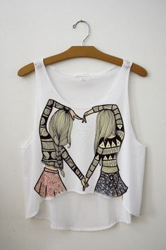 Heart Best Friend Top | fresh-tops.com