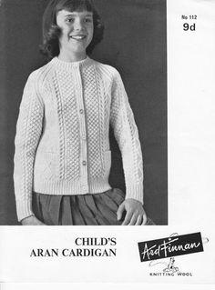 61eb7152f28469 Keynote 3129 childrens aran waistcoat vintage knitting pattern ...