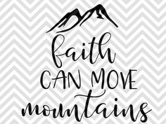 Faith Can Move Mountains Adventure Arrow Wood Sign Bible Verse Jesus Farmhouse Camping Happy Camper SVG and DXF EPS Cut File • Cricut • Silhouette by KristinAmandaDesigns