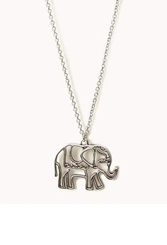 Cutout Elephant Necklace   FOREVER21 - 1057669503