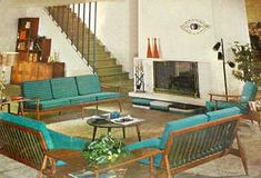 Lisa's Nostalgia Cafe--1960s Living Rooms & Rec-Rooms