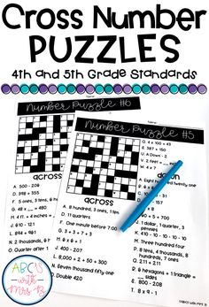 Use these number puzzles geared toward 4th and 5th grade standards! These puzzles emphasize mental math strategies, place value knowledge and ability to structure numbers to 10 and 20!
