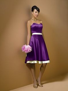 Wedding, White, Dress, Purple, Bridesmaids or this would be a cute dress for the bride at the reception