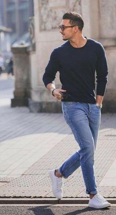 Copy those 8 street style looks to get a sharp look - Man Fashion Mens Fashion Blog, Fashion Mode, Daily Fashion, Fashion Ideas, Men Fashion Casual, Fashion Styles, Street Style Fashion, Mens Fashion Trends 2019, Men's Formal Fashion