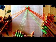 Cómo cruzar 4 guipures - Método 3 - YouTube