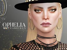 The Sims Resource: Ophelia Earrings by Pralinesims • Sims 4 Downloads