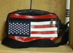 American Flag Leather Fanny Pack by Tinder Adjustable Unisex Fanny Waist Pack #Tinder #FannyWaistPack