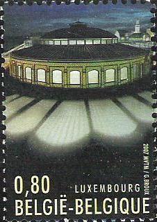 Belgian stamps Luxemburg-Belgium Joint Issue Rotonde nr 1 (Luxemburg)