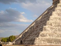 Chichen Itza, Mexico. At the equinoxes, perfectly aligned shadows transform the stair into a serpent.