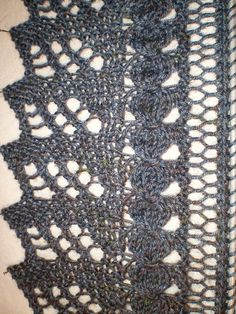 Ravelry: Maluka pattern by Bea Schmidt- stunning lace edging on this scarf- free!