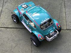 Rc Buggy, Baja Bug, Porsche 911 Rsr, Custom Paint Jobs, Black Body, Tamiya, Decals, Safety, Chrome