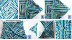 Mosaic Cushion – Free Crochet Pattern