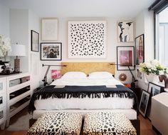 DIY polka dot wall art