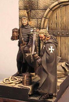 ospitalieriHospitaller Knight (Krak of the Knights Syria 1250 AD) metal figurine