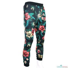 sports shoes 963c8 1a1b0 Black and Green Floral Sublimated Print Capri Pant Manufacturers    Suppliers USA, Australia