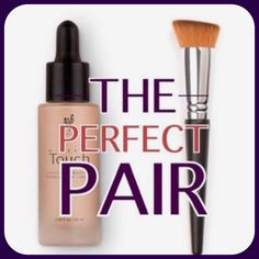 The Perfect Pair ~ Touch Mineral Liquid Foundation & our Liquid Foundation Brush! #Younique #ClickImageToShop #Questions #EmailMe sarahandbrianyounique@gmail.com or comment below