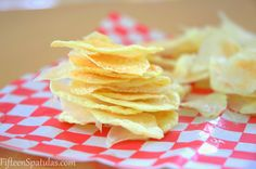 Oil Free Microwave Potato Chips.