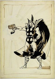 The mighty Thor....my favorite comic...I wanted to be him:)