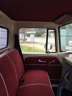 Bench seat view of a total International Ute fitout.