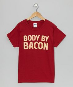 Look what I found on #zulily! Cardinal 'Body by Bacon' Tee - Kids & Adult #zulilyfinds