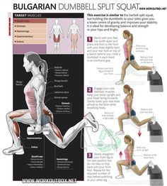 Bulgarian Dumbbell Split Squat: One of my favorite exercises. It can be used for Hip Mobility or Strength.