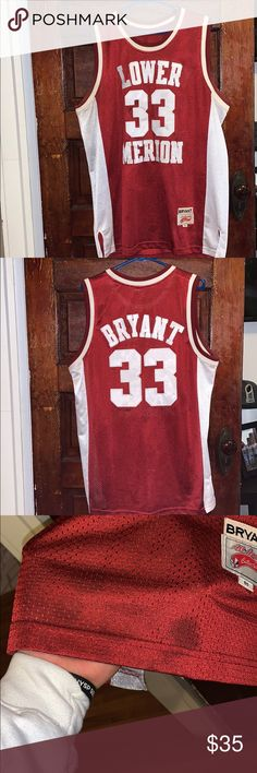 6aaa7a21e342 Kobe Bryant Lower Merion high school jersey  33 XL Kobe Bryant high school  jersey.