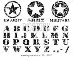 Find Vector Military Vintage Font stock images in HD and millions of other royalty-free stock photos, illustrations and vectors in the Shutterstock collection. Thousands of new, high-quality pictures added every day. Army Letters, Army Symbol, Stencil Font, Camo Stencil, Butterfly Stencil, Writing Fonts, Photo Stock Images, Stock Photos, Vintage Fonts
